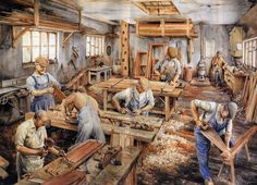 How Carpenters used to work in The Old Days