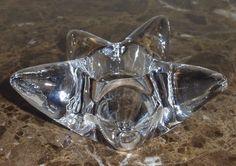 Orrefors Crystal Votive Star Candle Holder #Orrefors