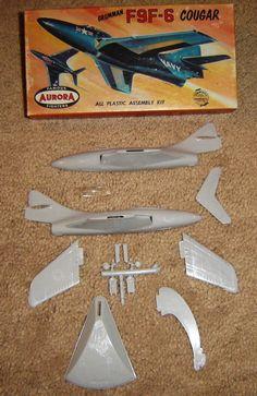 Aurora Grumman F9F 6 Cougar 1st Issue 1957 | eBay