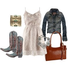 love the idea of the jacket with a white dress and boots (of course my boots are prettier) ;)
