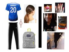 """""""OOTD!!"""" by septemberbaby914 on Polyvore featuring adidas Originals, JanSport, Emporio Armani and L. Erickson"""