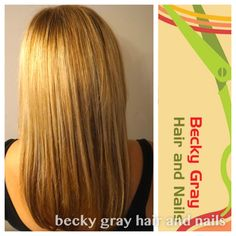 Highlights cut and blow dry Becky gray hair and nails