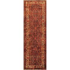 ecarpetgallery Hand-knotted Malayer Brown and Red Wool Rug