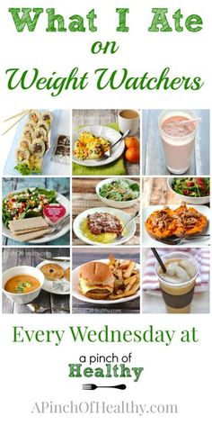 I lost 55 pounds with Weight Watchers and clean eating. See exactly what I am eating! Some weeks are Simply Filling, but most are the PointsPlus tracking method| APinchOfHealthy.com