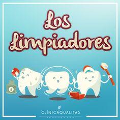 Cepillo de dientes, hilo dental y colutorio son el mejor equipo para combatir la placa dental. Ellos son... Los Limpiadores!  #salud #saluddental #clinicadental #higienedental