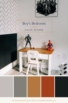Boy's Bedroom Color Scheme   Superhero Bedroom