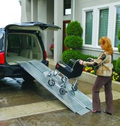 Portable Vehicle Ramp Gives Single Mother of Three Reassurance