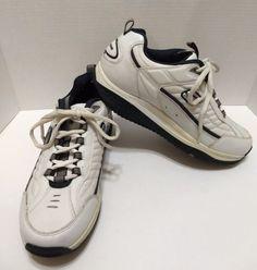 Skechers Shape Ups 50875 Men s Walking Toning Shoes White   Navy Sz 11 EUC 58e0091fc