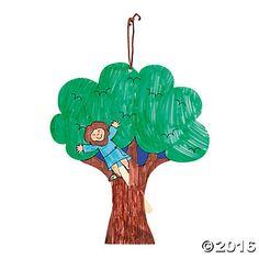 Color Your Own Zacchaeus Pop-Up Puppet Door Hangers