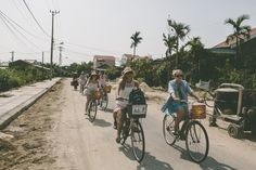 Exploring on bike is an unforgettable way to see the beauty of Hoi An for your Hens & Bucks Day. Hoi An, Hens, Big Day, Exploring, Dreaming Of You, Vietnam, Our Wedding, Street View, Bike