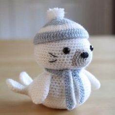 вязаная игрушка морской котик крючком схема вязания