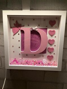 New baby keepsake frame / new baby gift / by Kayleighskeepsake
