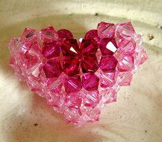 Bullseye Puffy Heart Addendum Tutorial / Instructions by annemade (Craft Supplies & Tools, Patterns & Tutorials, Jewelry & Beading, jewelry, instructions, swarovski, tutorial, lesson, puffy, heart, woven, crystal, beaded, crossweaving, pattern, gradient)