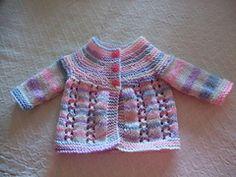 Baby Knitting Patterns Wear Ravelry: Bella Baby Jacket pattern by marianna mel Free Newborn Knitting Patterns, Baby Cardigan Knitting Pattern Free, Crochet Baby Jacket, Baby Sweater Patterns, Baby Girl Patterns, Crochet Baby Boots, Knitting For Kids, Knitted Baby, Doll Patterns