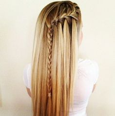 side-waterfall braid