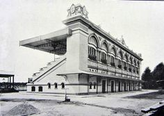 Arquibancadas do extinto hipódromo da Mooca em fase final de obras, ano de 1918