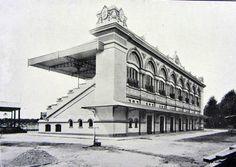 1918 - Arquibancadas do extinto hipódromo da Mooca em fase final de obras.