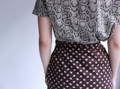 brown floral wrap wrap skirt s m by cheapopulance on Etsy, $45.00