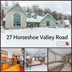 * NEW LISTING * 27 Horseshoe Valley Road $1,290,000.00 Stunning custom home w/granite, slate, ceramics, rustic hand screwed ash planking, white oak & Mondo flooring. 11 acre one of a kind estate is in pristine condition & offers privacy for the nature lover, beautiful perennial gardens, landscaped grounds, walking trails, 75 x 150 swimming pond & 4 ac hardwood bush. Minutes from Ski Resorts, Lakes Simcoe/Couchiching. Main flr has 10' ceilings w/vaulted cathedral ceiling, lg in great rm…