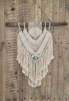 Macramé Mural // Macrame Wall Hanging // Suspension murale en