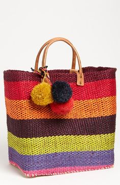 Mar y Sol 'Caracas' Tote My Bags, Purses And Bags, Sisal, Best Vibrators, Knitted Bags, Canvas Leather, Bag Storage, Beach Totes, Beach Bags