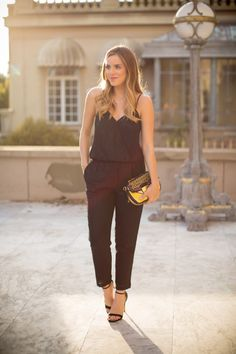 Black Sequin Jumpsuit - Gal Meets Glam