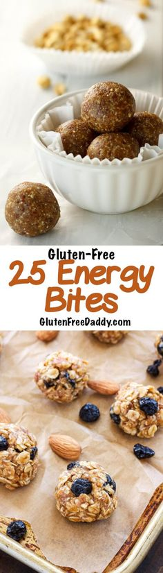 I totally need to make a bunch of these gluten-free energy bites to have on-hand for snacks, lunch treats and even a healthy dessert!