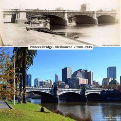 PRINCES BRIDGE - MELBOURNE: c.1888 - 2015