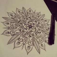 Beautiful mandala tattoo design :3