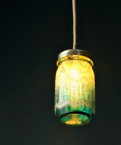 Handpainted Moroccan Mason Jar Lantern exclusive to www.dotandbo.com