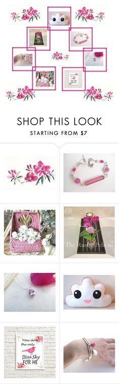 """""""Pink"""" by therusticpelican ❤ liked on Polyvore featuring bathroom, modern, rustic and vintage"""
