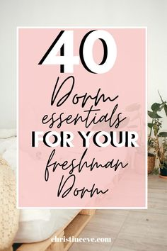 Need the perfect college dorm checklist? Here are 40 college dorm essentials that you actually need for your freshman year dorm room. From college dorm organization ideas to college dorm decorations, this list is the perfect freshman college packing list for your college dorm room! Don't miss out on any items and get packing! These are dorm essentials for girls room and for guys! #dormessentialslist #collegedormessentialsfreshmanyear #collegedormwalldecor