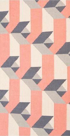 The Dakota Runner Rug in Cherry. A bright geometric colour pop. £79 | MADE.COM