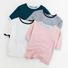 Women'S Harajuku Fashionable Casual All-Match Colorant Match Small Fresh T-Shirt Female Korean Kawaii Tops For Women Teen Fashion Outfits, Outfits For Teens, Cool Outfits, Summer Outfits, Casual Outfits, Champion Clothing, Moda Casual, Aesthetic Clothes, Aesthetic Shop