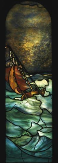 exam ref - bg texture, movement, simplicity. Window Louis Comfort Tiffany, 1895 Christie's Tiffany Stained Glass, Stained Glass Lamps, Tiffany Glass, Stained Glass Designs, Stained Glass Panels, Stained Glass Projects, Stained Glass Patterns, Leaded Glass, Mosaic Glass