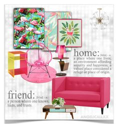 """""""Just a home"""" by angelicallxx ❤ liked on Polyvore featuring interior, interiors, interior design, home, home decor, interior decorating, TOM TAILOR, Marchesa, Baxton Studio and Dot & Bo"""