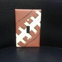 Football Light Switch Cover, Football Switchplate, Football Nursery Decor