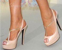 hotness and more Elegant White Coppy Leather Peep Toe Heels