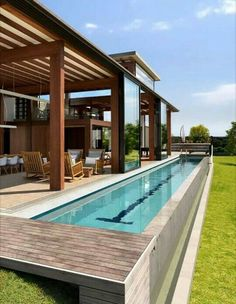 Everyone loves luxury swimming pool layouts, aren't they? Here are some leading checklist of deluxe pool photo for your motivation. These dreamy swimming pool design suggestions will transform your backyard right into an exterior sanctuary. Villa Design, Spa Design, Container Home Designs, Small Swimming Pools, Swimming Pool Designs, Indoor Swimming, Langer Pool, Small Backyard Design, Backyard Designs