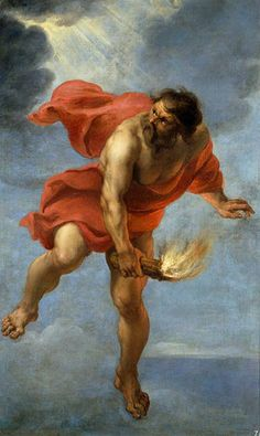 Prometheus Carrying Fire – Jan Cossiers