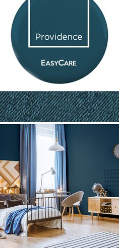 Revive a room with EasyCare paint. Providence is a blue green blend that works well in any space. Find your calm amid the chaos with an EasyCare paint makeover.
