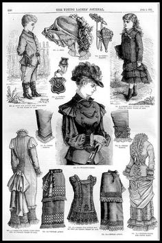 1881 Vintage Fashion Plates - The Young Ladies Journal No.… | Flickr