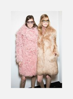 Kati Nescher and Suvi Koponen at Gucci f/w 2014 backstage