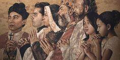 Modlitba za najviac zabudnuté duše v očistci Mount Rushmore, Painting, Painting Art, Paintings, Painted Canvas, Drawings
