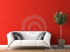 Google Image Result for http://www.dreamstime.com/interior-design-of-white-couch-on-red-wall-thumb9108129.jpg