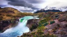 Bing | Papel de Parede paisagem, montanha, rio, cachoeira, geleiras, neve ...