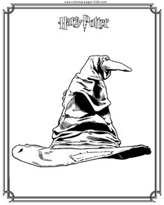 Sorting hat Harry Potter color page, cartoon characters coloring pages, color plate, coloring sheet,printable coloring picture