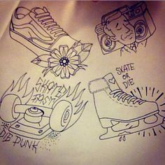 Old School skate times Drawn by - Junior Enemark