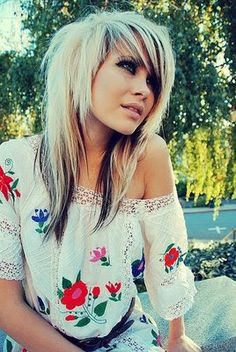 Scene Thin Emo Long Hairstyles for Girls