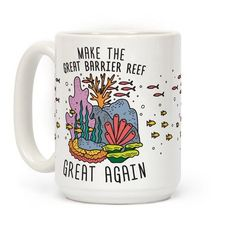 """Show your support for one of nature's greatest, and natural wonders of the world with this 'Make The Great Barrier Reef Great Again"""" political parody, environmental design! Perfect for environmentalists, climate activists, ocean lovers, ocean activists and caring about the health of our oceans!"""